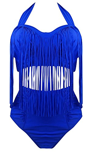 Blue Polka Dots Bikini Set in Australia - 6