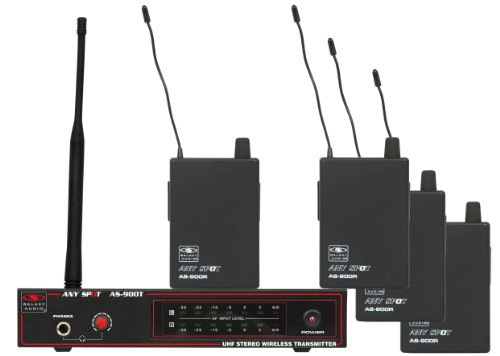 Galaxy AS-900-4-K1 4-Person Wireless In Ear Monitor System (K1 - 630.2MHz Frequency) by Galaxy