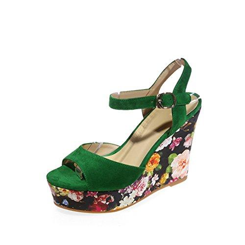 1TO9 Womens Sandals Non-Marking Nubuck Urethane Sandals MJS03218 Green dP9CDhK