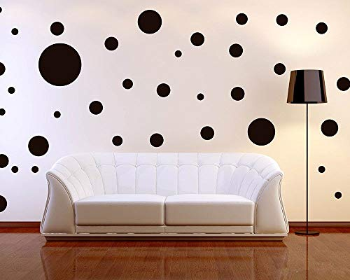 Removable Black Mix Polka 268PCS Wall Decals for Kids Room Decoration +