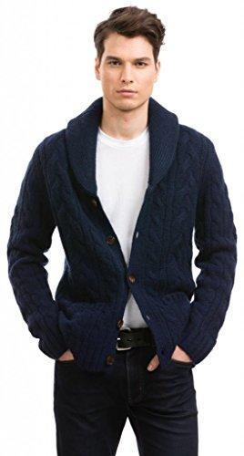 (Citizen Cashmere Shawl Collar Cardigans - 100% Tibetan Yak Wool (Navy), L, (42 123Y-17-03))