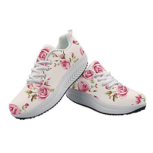 生きているグラディス倉庫Cozeyat(jp) ウォーキングシューズ レディース シーソーヒール 歩きやすい かわいい 花柄