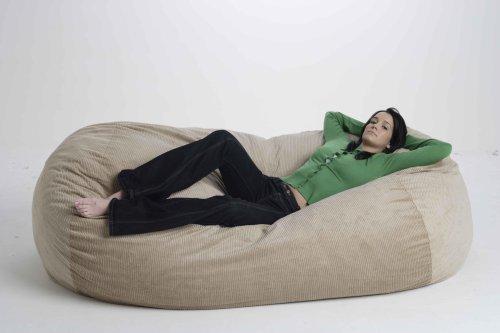 Bean2Bed™ - Pouf a sacco, divano letto, colore: corda/latte: Amazon ...
