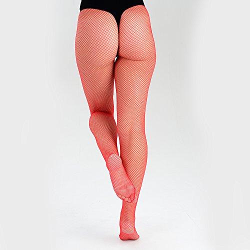 3 rosso Sexy da filetto collant rete donna colori a in unica taglia 6PpPAf