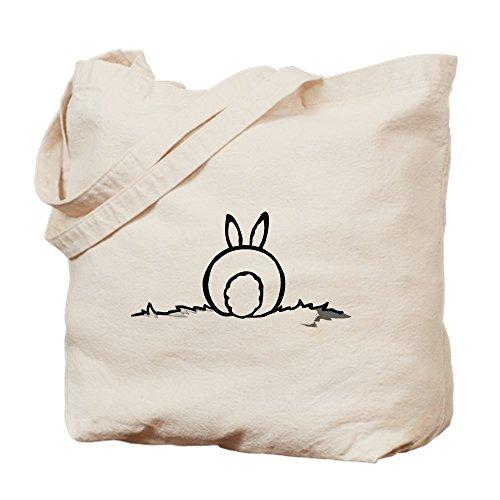 CafePress Cotton Tail Natural Canvas Tote Bag, Cloth Shopping Bag