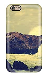 First-class For Case Samsung Note 4 Cover Dual Protection Cover Ocean Rocks Crash Digital