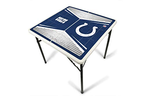 - PROLINE NFL Indianapolis Colts 2.5' x 2.5' Folding Plastic Tailgate Table