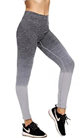 RUNNING GIRL Performance Women's Ombre Yoga Pants Active Leggings Space Dye Workout Tights