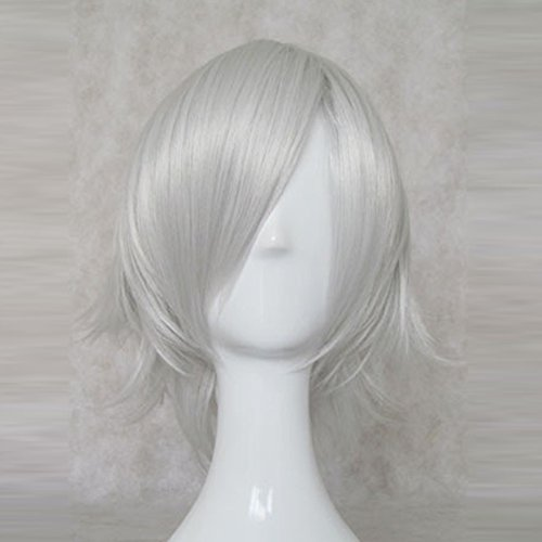 A Certain Magical Index Accelerator Silver White Short Cosplay Party Hair (Accelerator Cosplay Costume)