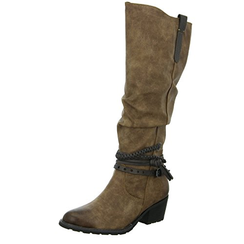 MARCO TOZZI WOMENS RIDING HIGH BOOTS Brown