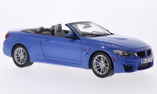 BMW M4 Convertible, metallic-blue, 2015, Model Car, Ready-made, I-Paragon 1:18