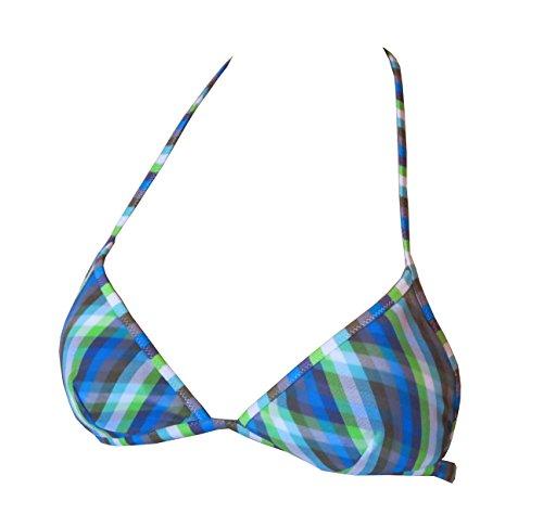 Diesel BFB CALYPSO REGGISENO Damen Triangel Bikini-Top, blau gestreift, EU 38 (M)