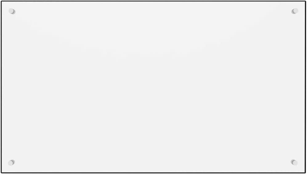 vidaXL Paraschizzi per Cucina Paraspruzzi Fornelli Resistente al Calore Pannello Splashback Parete Bianco 90x50 cm in Vetro Temperato