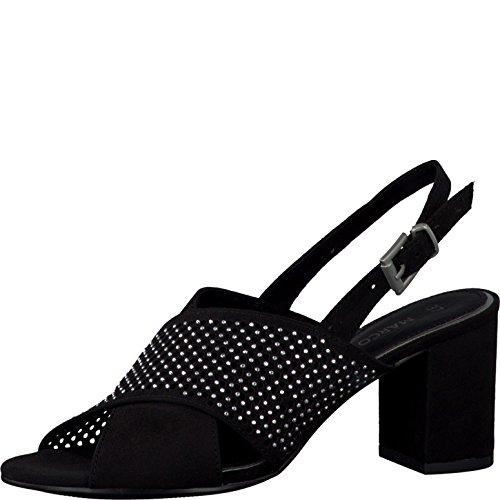 noir 001 Marco Schwarz 2 Dames sandales 28311 Tozzi wY8CqnS