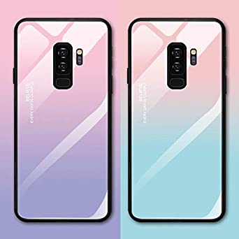 9befd60fd458 Amazon.com  for Samsung S8 S8 Plus - Tempered Glass Phone Cases for Samsung  Galaxy S8 S9 Plus Case Luxury Protective Cover for Samsung Galaxy Note 8 9  ...