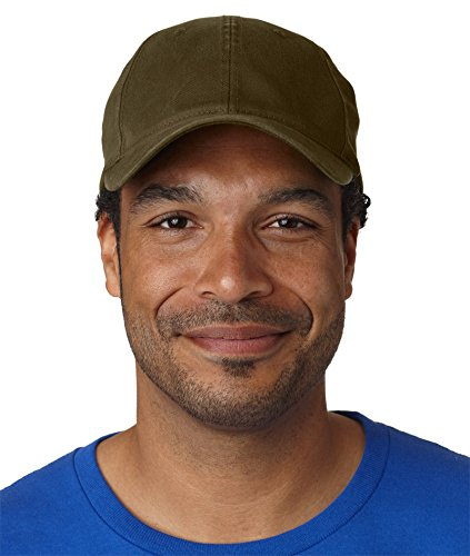 Flexfit Garment Washed Cap, Low Profile, Loden, Large / (Profile Cotton Twill Hat)