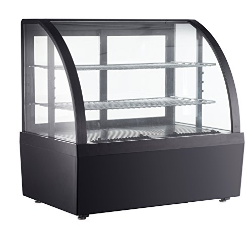 Refrigerated Display Cabinet - Countertop Refrigerated Show Case Cake Display Cabinet 110V 32-53.6℉(0-12℃) (Item # 210091) Black