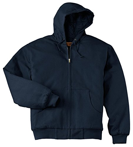 Jacket Work Cornerstone - Port Authority CornerStone Men's Big And Tall Hooded Drawcord Work Jacket_Navy_XLT
