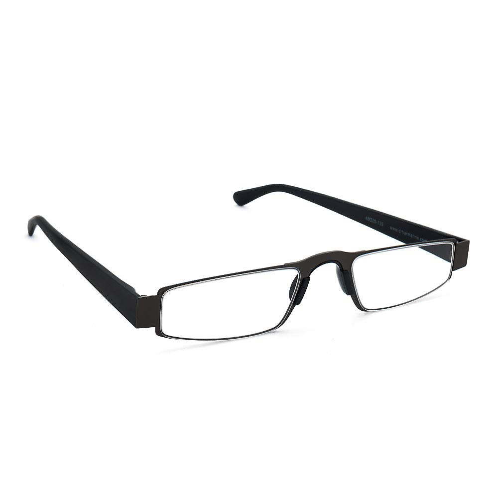 CDM product I-Mag Executive Slim Metal Reading Glasses with Slide Open Hard Case (2.50, Black) big image