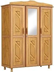 Guarda Roupa Casal com Espelho 3 Portas 3 Gavetas Brasil Móveis Cavazotto Mel