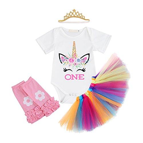 4pc Beautiful Bride Costumes - IWEMEK Baby Girls 1st Birthday Cake