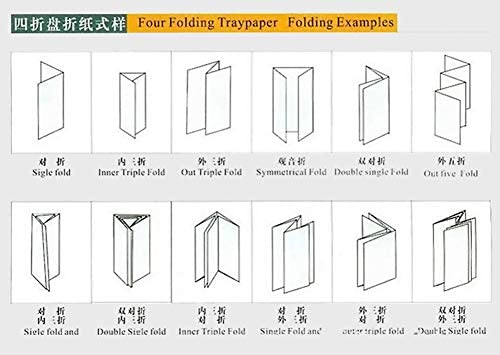 Automatic 4 Plates Paper Folder Paper Folding Machine Baumarkt
