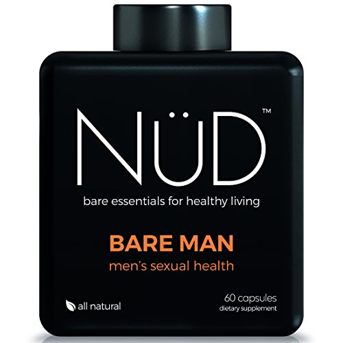 Powerful Testosterone Booster for Men by NuD - Best for Sexual Performance, Libido Enhancement & Stamina Booster - 100% All Natural Supplements with Tribulus, Maca Root, Ginseng & More - - Men Nud