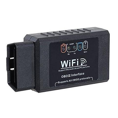 WiFi OBD2 Car Diagnostic Scanner Support IPhone IPad Android For BMW AUDI VW VOLKSWAGEN VOLVO JAGUAR (Peugeot 206 Computer)