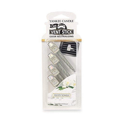 Yankee Candle Fluffy Towels Car Vent Sticks (Pack of 4): Amazon.co ...