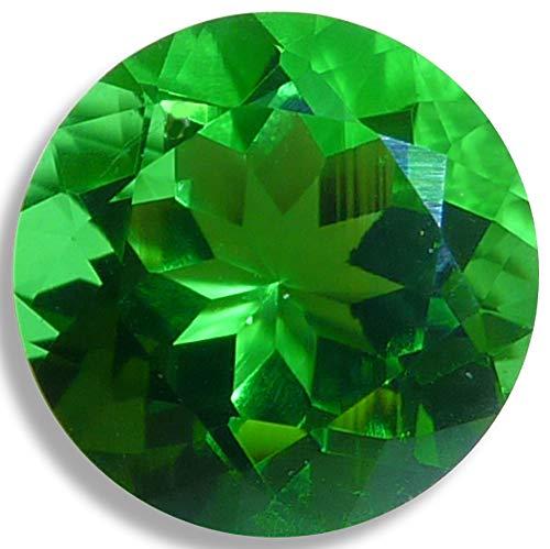 Lab Helenite Grass Green Round Brilliant Loose Unset Gem (6mm)