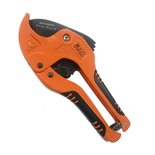 Zantle Pipe and Tube Cutter, Ratcheting Hose Cutter One-hand Fast Pipe Cutting Tool with Ratchet Drive for Cutting Less Than 1-1/4