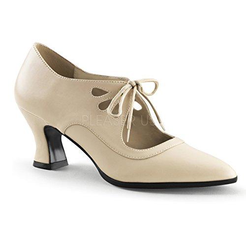 Funtasma Women's Victorian-03 Boot, Cream Polyurethane, 8 M US ()