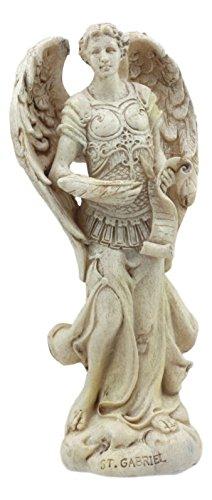Ebros Ivory Finish Holy Archangel Saint Gabriel Statue 5