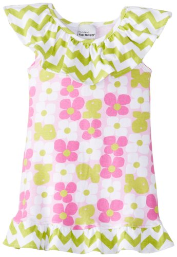 Flap Happy Baby Girls' Swing Dress with Wrap Ruffle   Aquatic Wallflower, Aquatic Wallflower, 12 Months