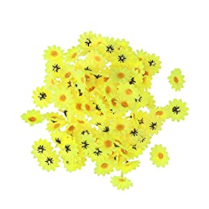 VORCOOL 100Pcs Artificial Flowers Wholesale Fake Daisy Flowers Heads Gerbera Daisy Silk Sunflowers Sun Flower Heads for Party Wedding Decoration Home Decor 74