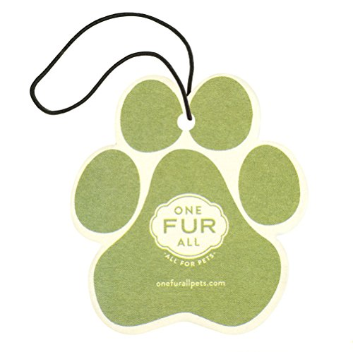 Pet House Car Air Freshener by One Fur All, Pack of 4 - Fresh Citrus - Non-Toxic Auto Air Freshener, Pet Odor Eliminating Air Freshener for Car, Ideal for Small Spaces, Dye Free Dog Car Air Freshener