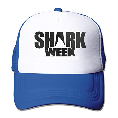 - Shark Week Trucker Hats Toddler Mesh Black Baseball Caps Outdoors Climbing Sun Breathable Hat Blue