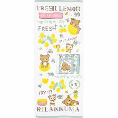San-X Rilakkuma Fresh Lemon Theme Bath Towel / Face towel CM56301