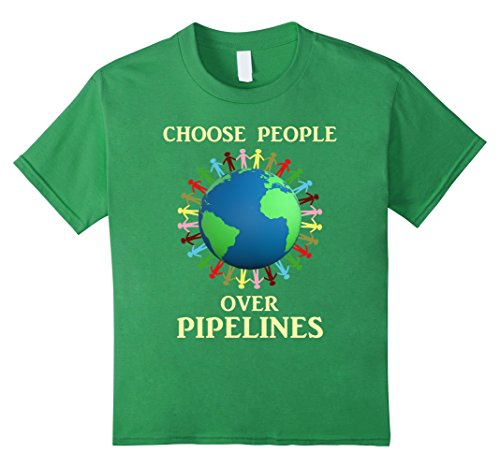 Kids Dakota Access Pipeline Shirt Choose People Over Pipelines 6 Grass