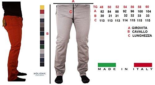 56 In Jeans Mod Tg 58 44 Colori 54 48 Verde Holiday 60 Pantalone 13 Fango 52 Militare Uomo Panama 50 46 Cotone Zqwy5IY