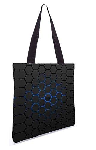 Snoogg Honeycomb 13,5 x 15 Zoll-Shopping-Dienstprogramm-Einkaufstasche aus Polyester-Segeltuch gemacht