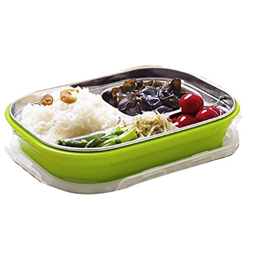 - Stainless Steel Bento Lunch Kids Thermal Food Container Portable Picnic Food Box GR