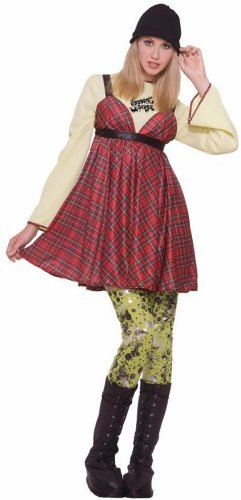 Forum Novelties Women's Grunge Girl Costume, Multi, Standard (Grunge Rock Halloween Costume)