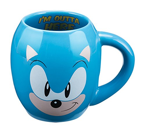 vandor-63061-sonic-the-hedgehog-18-ounce-ceramic-oval-mug-blue