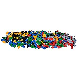 Toy Building Blocks - 1,000 Bricks Big Box of Blocks - Tight Fit and Compatible with Lego - 41mqkjJAk 2BL - Alapa Set of 9 Lego Compatible 5×5 Building Boards 9 Colors
