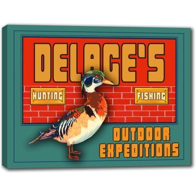 delages-outdoor-expeditions-stretched-canvas-sign-24-x-30