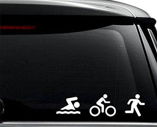 Triathlete Triathlon Ironman Sports Decal Sticker For Use On Laptop, Helmet, Car, Truck, Motorcycle, Windows, Bumper, Wall, and Decor Size- [6 inch] / [15 cm] Wide / Color- Gloss - Sport Iron Man
