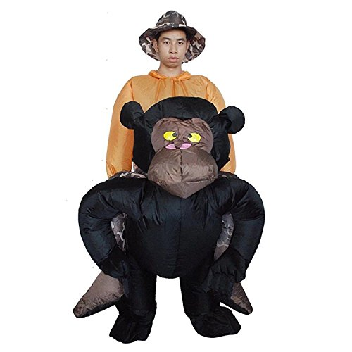 Costhat Inflatable Chimp Chimpanzee Suit Cosplay Adult Fancy Dress Costume (Chimp Costume)