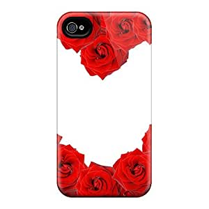 Premium Ipod Touch 4 Cases - Protective Skin - High Quality For Heart Rose