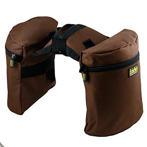 trailMAX Original Doppel Horntasche Satteltasche Western Packtasche braun